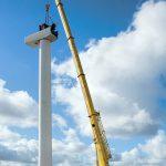 100t Demag replacing wind turbine gearbox