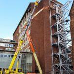 50t Grove building new fire escape at Manchester University