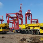 Our 70T & 100T cranes working on the new L2 Port