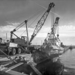Boat Lift using 35t Coles crane