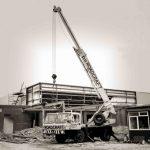 12t Coles crane placing steel work