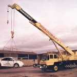 The New Beetle at Corkills with 25 ton Tadano