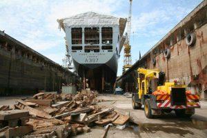 Roadcraft Crane Hire - Franna at Dry Dock